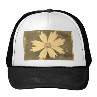 Old photo Yellow Cosmos Flower Close-up Trucker Hat