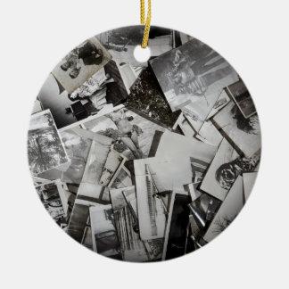 Old photos. ceramic ornament