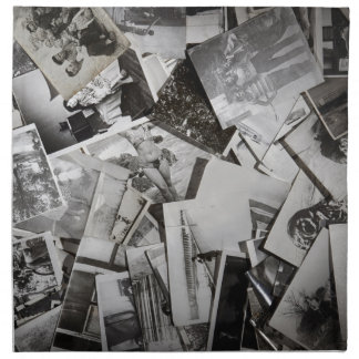 Old photos. cloth napkin