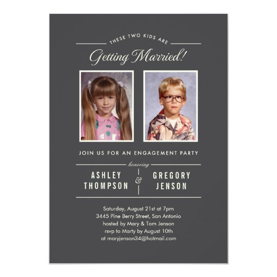 old photos engagement party invitations | zazzle, Party invitations