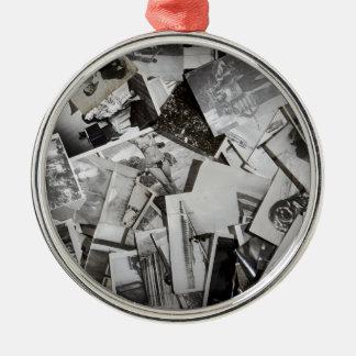 Old photos. metal ornament
