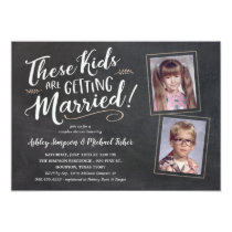 Old Photos Wedding Shower Invitations Handwritten