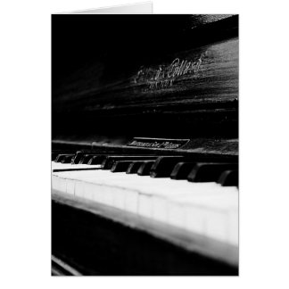 Old Piano Card