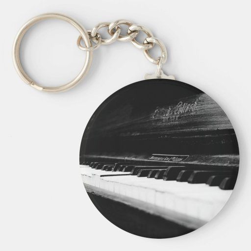 Old Piano Key Chains