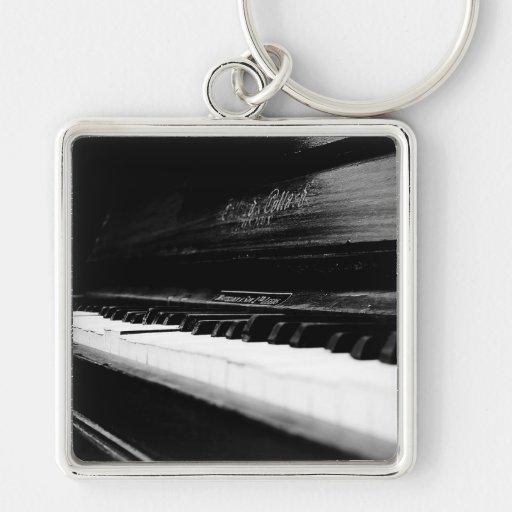 Old Piano Key Chain