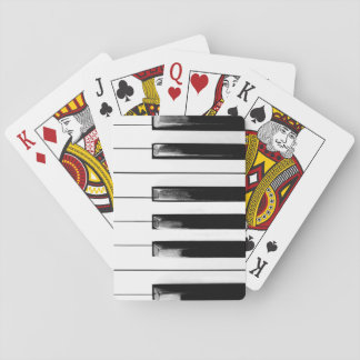 Old Piano Keys Playing Cards