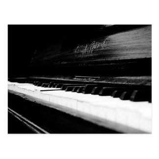Old Piano Postcard