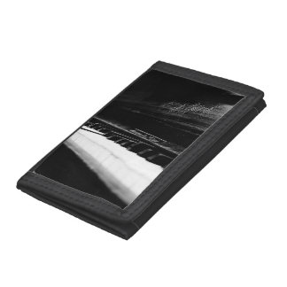 Old Piano Trifold Wallets