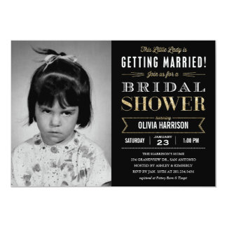 Old Picture Bridal Shower Invitations
