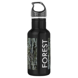 Old Pine Bark Forest Water Bottle