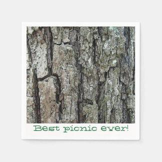 Old Pine Bark Picnic Paper Napkin