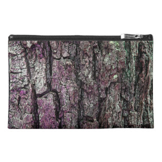 Old Pine Bark Purple Touch Travel Accessories Bags
