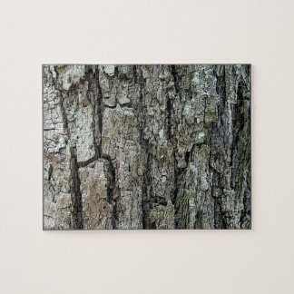 Old Pine Bark with Frame Puzzle