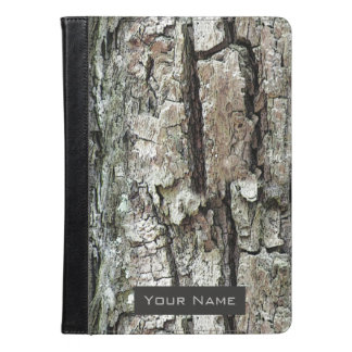 Old Pine Bark with Name lable iPad Air Case