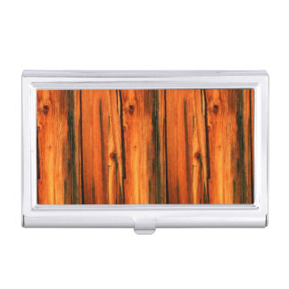 old pine barn boards case for business cards