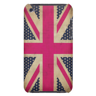 Old Pink Union Jack Flag iPod Touch Barely There iPod Touch Covers