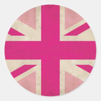 Old Pink Union Jack Sticker