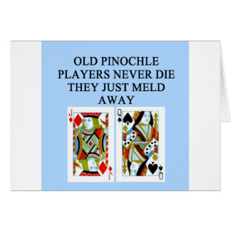 old pinochle player card