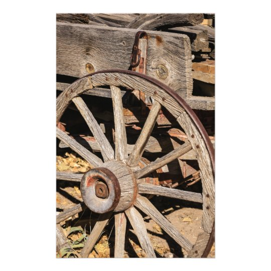 Old Pioneer's Wooden wagon in New Mexico Stationery