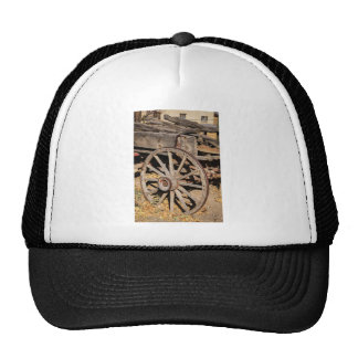 Old Pioneer's Wooden wagon in New Mexico Trucker Hat