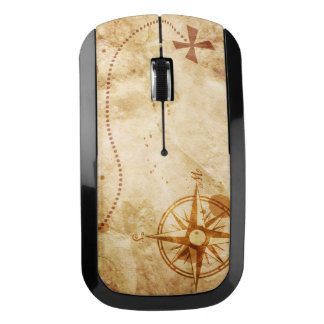 Old Pirate Map Wireless Mouse