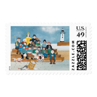 Old Pirates of Penzance Postage Stamp