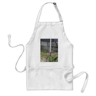 Old pitchfork adult apron