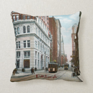 Old Pittsburgh Streets Pillow