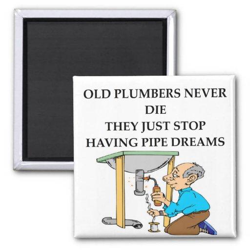 old plumbers never die magnet