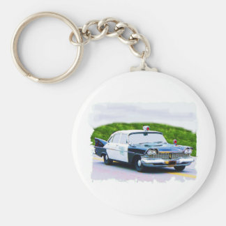 Old_police_car Plymouth Basic Round Button Keychain