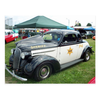 Old Police Car Postcard