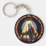 Old Pool players Basic Round Button Keychain