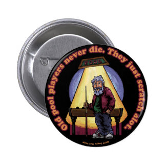Old Pool players 2 Inch Round Button