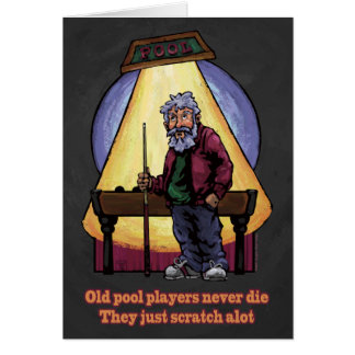 Old Pool players Greeting Cards