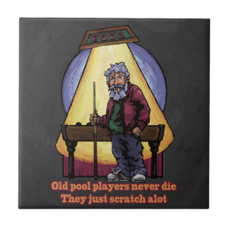 Old Pool Players Character Art Tile