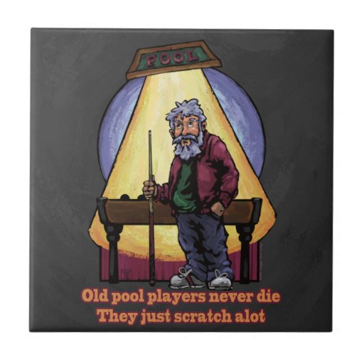Old Pool Players Character Art Ceramic Tiles