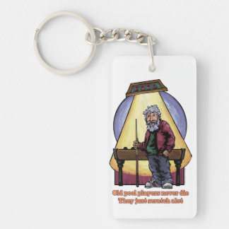 Old Pool Players Single-Sided Rectangular Acrylic Keychain