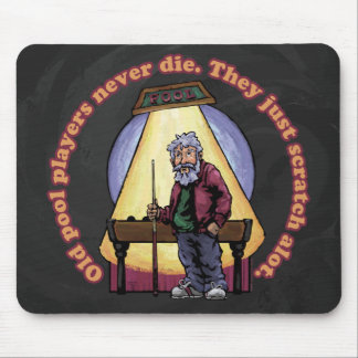 Old Pool Players Mouse Pad