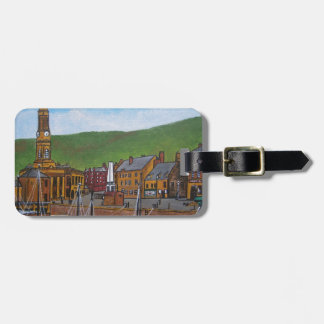 Old Port  Glasgow Harbour Luggage Tag