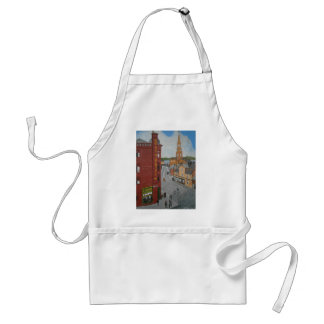 Old Port Glasgow with Town Clock Adult Apron