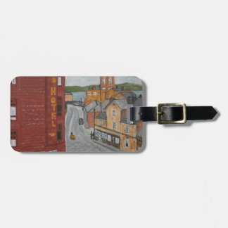 Old Port Glasgow with Town Clock Bag Tag