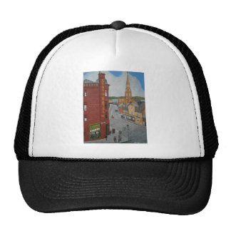Old Port Glasgow with Town Clock Trucker Hat