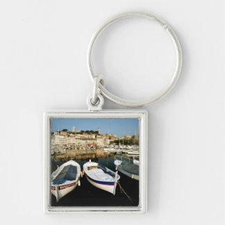 Old port Silver-Colored square keychain