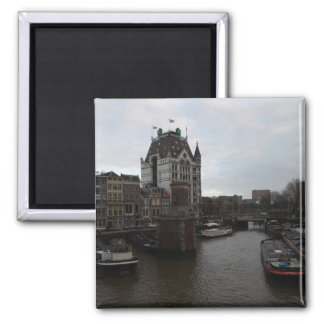 Old Port, Rotterdam 2 Inch Square Magnet