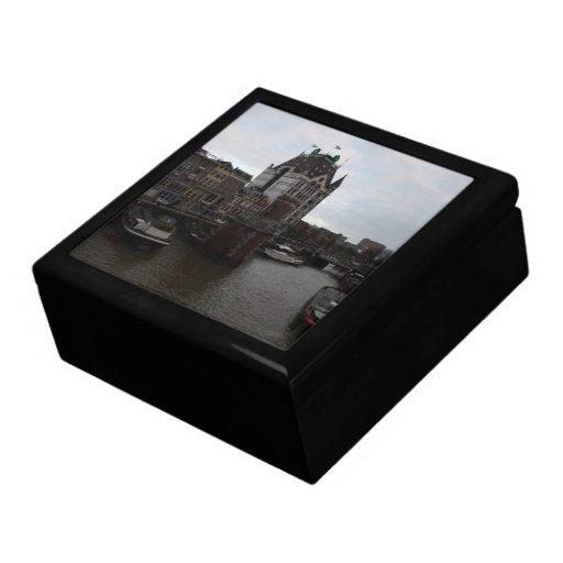 Old Port, Rotterdam Keepsake Boxes