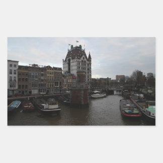 Old Port, Rotterdam Rectangular Sticker