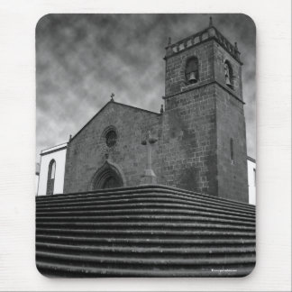 Old portuguese church mouse pad