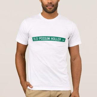 Old Possum Holler Rd, Street Sign, N. Carolina, US T-Shirt