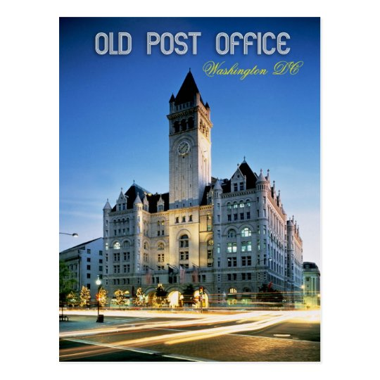 old post office pavilion  washington dc postcard