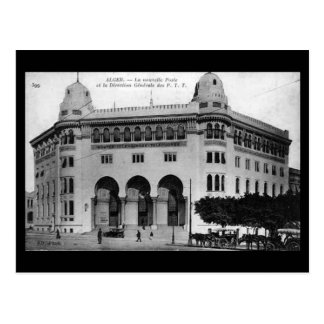 Old Postcard - Algiers New Post Office